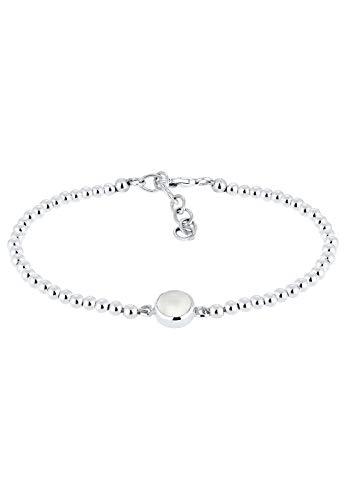 Elli Armband Damen mit Mondstein und Kugeln in 925 Sterling Silber