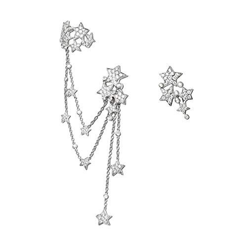 Overdreven ontwerp oorbellen voor tweeërlei gebruik, temperament, diamanten hangende ketting, kwastjes, oorbellen met sterretjes, oorbellen voor vrouwen