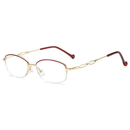 Reading glasses Die neuesten High-End-Flachbrillen für Herren und Damen, Presbyopie-Brillen, Anti-Blau-Lesebrillen mit Metallrahmen, Goldrand, roter Rand und hochwertige Luxus-Lesebrillen