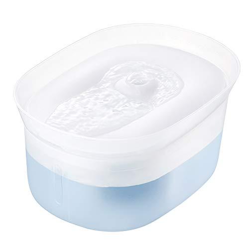 HoneyGuaridan W20 Fuente de Agua automática para Perros y Gatos, dispensador automático de Agua para Mascotas con Bomba ultrasilenciosa, diseñado para Gatos de Todos los tamaños y Perros pequeños, 2L