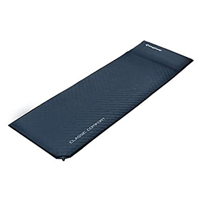 KingCamp Light Damp-Proof Durable 150D Oxford PVC Coating Self-Inflating Camp Pad Mat with Pillow, Camping, Backpacking, Hiking