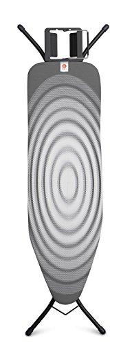 Brabantia 103841 Tabla de Planchar, Acero, Titan Oval, 124 x 38 cm