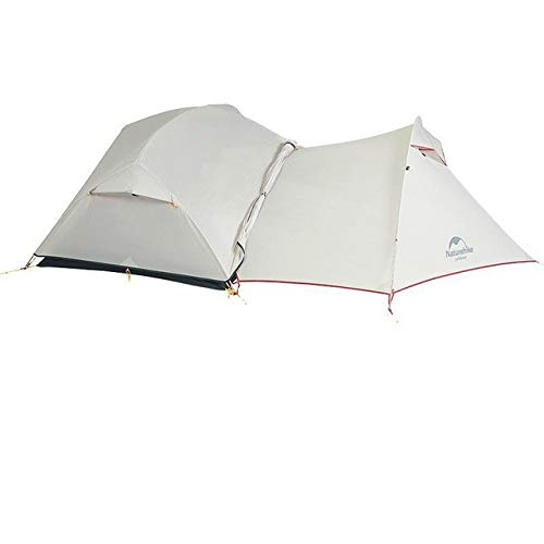 Mdsfe Naturehike Mongar 2 Person Tourist Tent Waterproof 15D Nylon Fabric Camping Tent Ultralight Aluminum Alloy Large Space With Mat-Gray Tent and Awning,A3