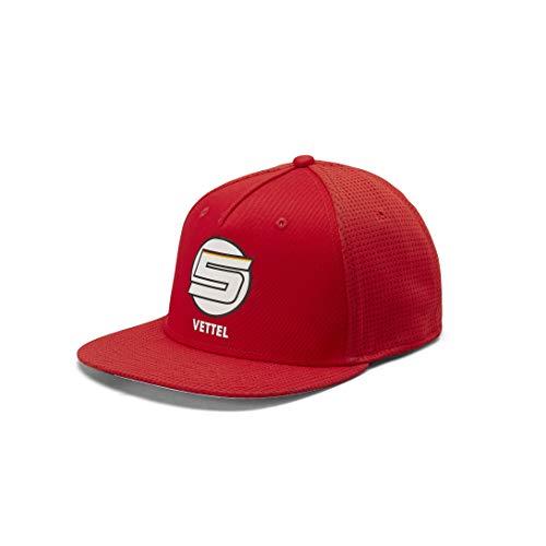 Branded Sports Merchandising B.V. Offizielle Formula 1 Merchandise - Ferrari - Driver Kappe - Vettel - Flat Brim Kappe - Red