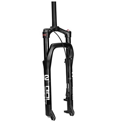Horquilla Delantera De Bicicleta Horquilla De Suspensión BMX E-Bike 26x4,0 Pulgadas Freno De Disco De Aire MTB/ATV QR De 100 Mm De Recorrido (Color : Straight Remote)