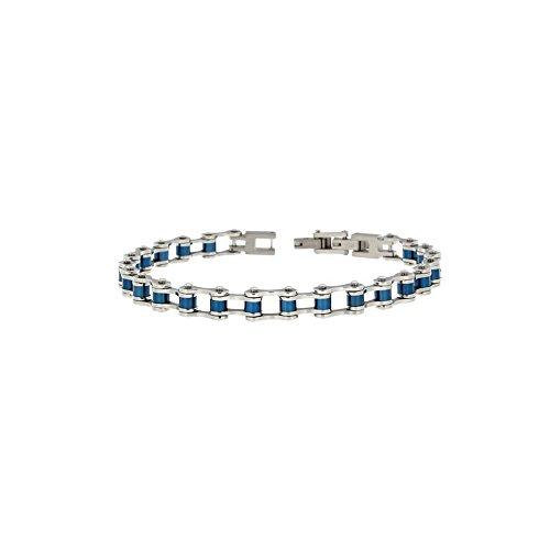 Zoppini H2694_0002 - Pulsera para hombre de acero y PVD azul