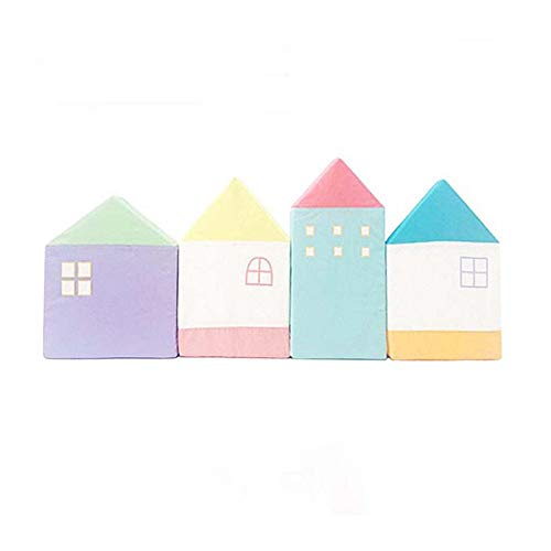 BORNET Krippe Leitplanke/Kinder Anti-Kollision Baumwolle Atmungsaktiv Bett Zaun Universal Barrier Macarons Wandschutz Pad \Small House\