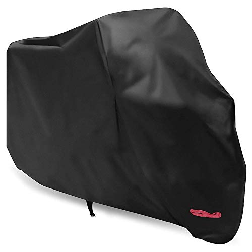 Motorcycle Cover,WDLHQC 210D Waterproof Motorcycle Cover All Weather Outdoor Protection,Oxford Durable & Tear Proof,Precision Fit for Length 87 inch