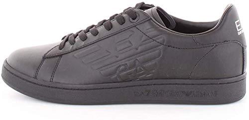 EA7 Emporio Armani 7 - Scarpe Unisex Sneakers Nero Pelle - Taglia IT 41 1/3 - US 8