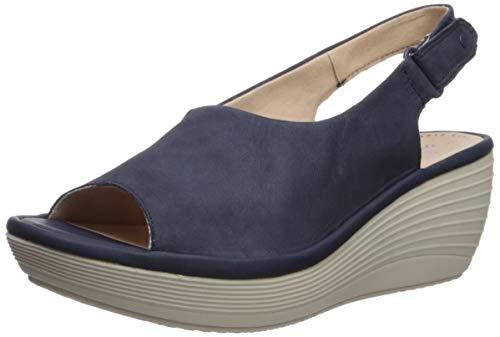 Clarks Reedly Shaina Damen-Sandale mit Keilabsatz, Blau (Marineblau), 39 EU