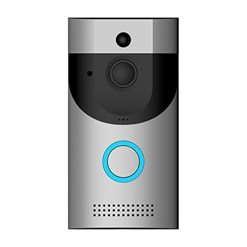 uleileidega B30 inalámbrica WiFi vídeo Timbre de la Puerta cámara de visión Nocturna Pir detección de Movimiento Intercom Timbre de la Puerta para la Seguridad casera Gris Plata