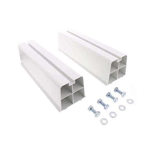 Genérico. GASMOBE Base Unidad Externa Condensador Pack (2) Resina PVC Ajustable para Unidad de Condensador Aire Acondicionado minisplit. Soporta hasta 120kg por Base. con herrajes. (85X80X350)
