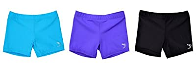 Sookie Active Premium Micro Nylon Spandex Youth Shorts - Multicolor 3-Pack (Youth 8-10) Set 11: Blue, Lavender, Black