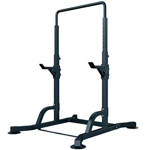 KMKN Rack Sentadilla Ajustables Rack Pesas Dominadas Rack Jaula Sentadillas Fuerza Entrenamiento Equipo (MAX 500KG,Color:Negro)