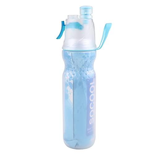 Bottiglia d'acqua sportiva,Borraccia per acqua spray da 590 ml con ugello,borraccia per palestra di idratazione all'aperto con coperchio flip top a prova di perdite per corsa,palestra,yoga,all'aperto