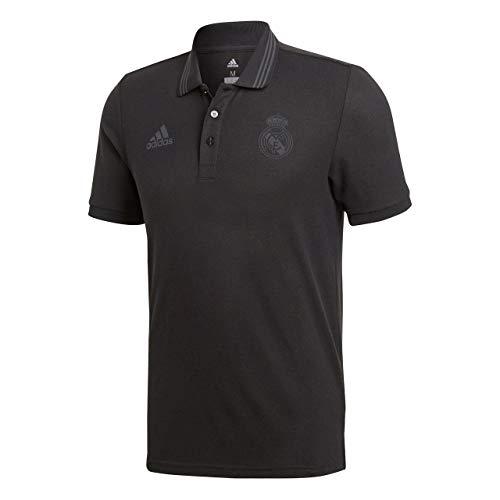 adidas SSP Polo Línea Real Madrid, Hombre, Negro (Negro), 3XL