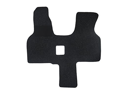 Alpha-Tex Fußmatte 4440 - Autoteppich (1-TLG. in Qualität Robust anthrazit, Umrandung dunkelgrün)