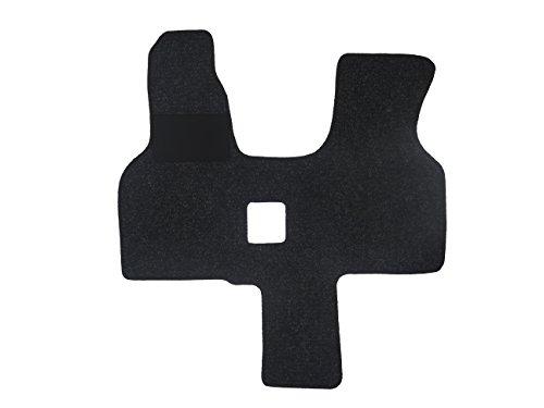 Fußmatte 4440 - Autoteppich von Alpha-Tex (1-tlg. in Qualität Robust anthrazit, Umrandung beige)