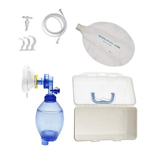 Dark Area Einfaches Atemwerkzeug, PVC-Maske für Erwachsene mit Sauerstoffschlauch, Beutel(Kind)