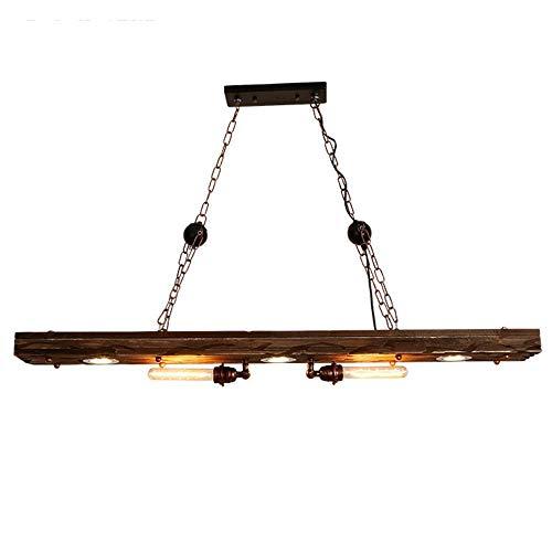 CAIMEI Araña Retro Estilo Industrial Personalidad Creativa Madera Iza E27 E26 Hierro Negro Art Deco Mesa de Comedor Iluminación 60W