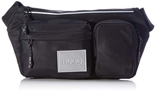 HUGO Record MF_Waistbag, Cinturón para Hombre, Negro1, Einheitsgröße