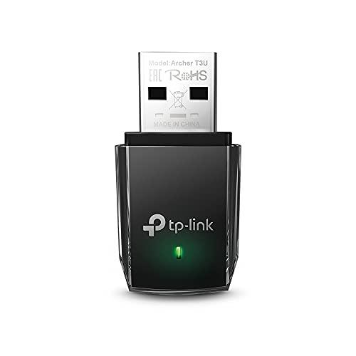 TP-Link Archer T3U - Adaptador Wi-Fi AC1300, Receptor Wi-Fi , Doble Banda 5GHz (867Mbps) y 2GHz(400Mbps), MU-MIMO, USB 3.0, Tamaño Mini