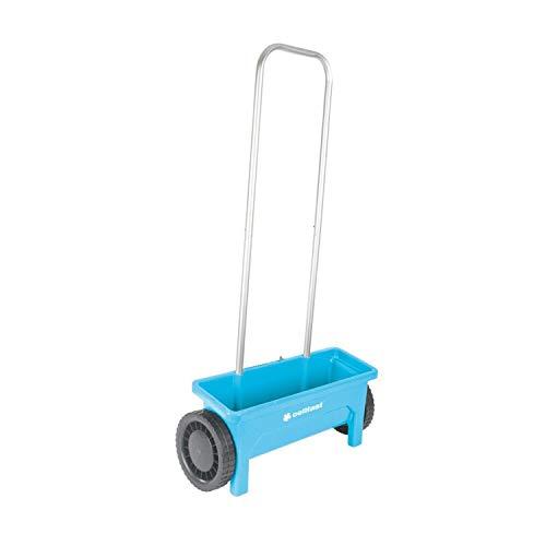 Cellfast Spargitore manuale da 12 litri Spandiconcime a Ruote Spargitore in Alluminio