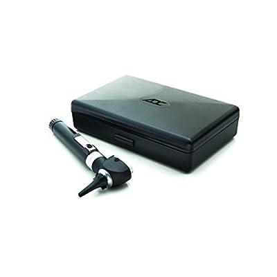 ADC Otoscope, Pocket Size, LED Lamp, 2.5V Hard Case, Diagnostix 5111NL, Black