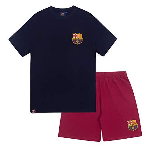FC Barcelona - Pijama Corto para Hombre - Producto Oficial - XL
