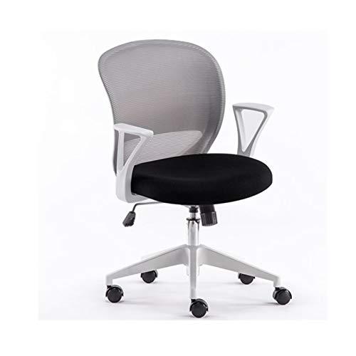 ZXN RTU Relax - Silla de oficina ergonómica de malla para ordenador, soporte lumbar, moderno ejecutivo ajustable, silla giratoria para dolor de espalda, color negro