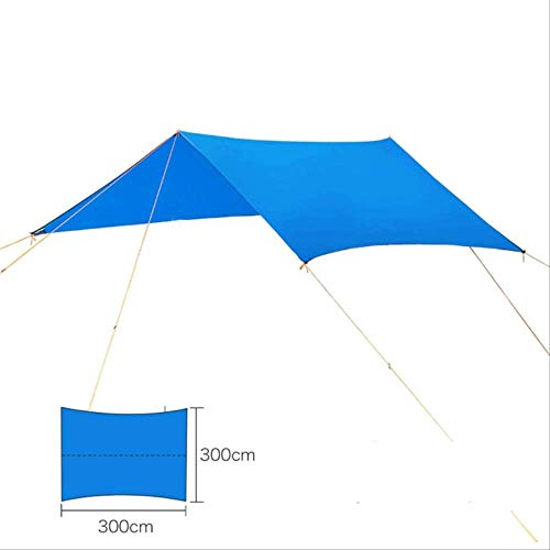 3M*3M Sun Shelter Waterproof Tourist Tent Outdoor Hiking Camping Beach For Hammock Survive Ultralight UV Protection Awning 3 * 3M Blue