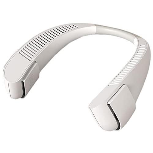 ppqq Fácil de Transportar Pequeño Ventilador B9HC Mano Libre Portátil Portátil Fan-Recargable Mini Ventilador de Cuello USB, 3 Niveles de Aire Air Acondicionador de Aire Aire Acondicionado Ventilador
