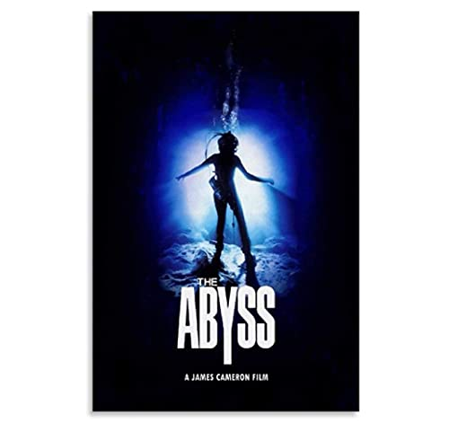 Póster de película clásica The Abyss, póster de arte en lienzo y arte de pared, impresión de imágenes, carteles de decoración de dormitorio familiar moderno -50x75cm sin marco