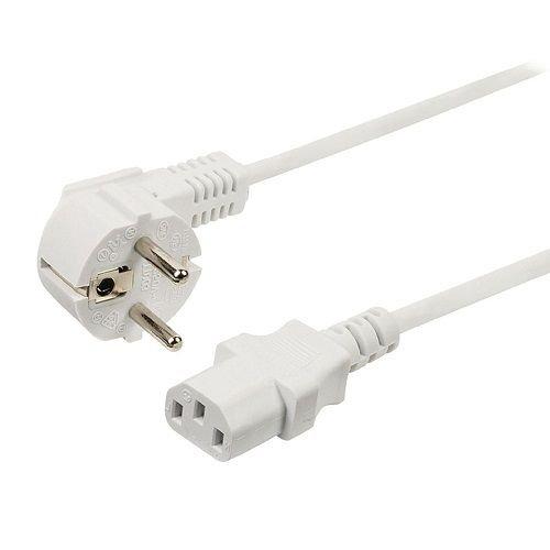 Cable de alimentacion CPU (2 Metros, Blanco)