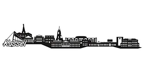 Samunshi® Kassel Skyline Aufkleber Sticker Autoaufkleber City Gedruckt in 7 Größen (15x2,8cm schwarz)