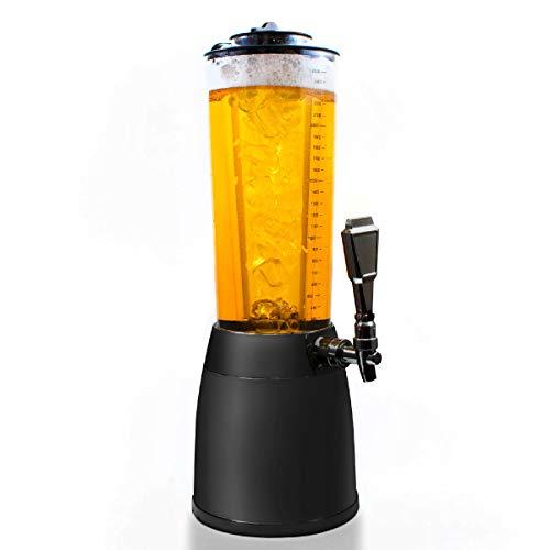 GOODS+GADGETS 4,0L Biersäule Zapfsäule Kult Biertower Trinksäule Getränkespender Getränkesäule mit 1,3L Eiskühlung