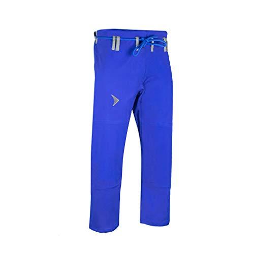 Vali Isso Gi Pants Brazilian Jiu Jitsu Gi 10oz Cotton for BJJ (Blue, A1)