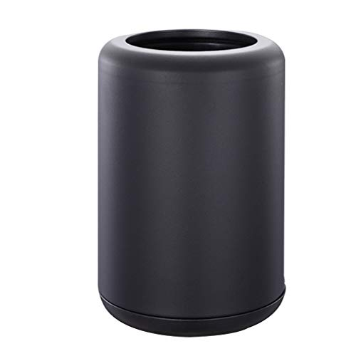 Poubelle- La poubelle découverte inventée de poubelles extérieures d'acier inoxydable peut dans/extérieur (Color : A)