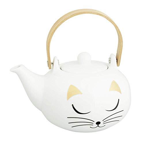 Pylones Teekanne im japanischen Stil – Matinal Tea White Cat