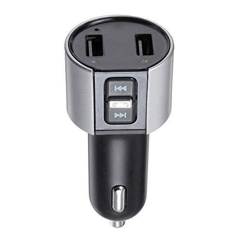 Práctico Coche Bluetooth MP3 Manos Libres transmisor FM 3.4A Cargador de automóvil Bluetooth Durable Detectar