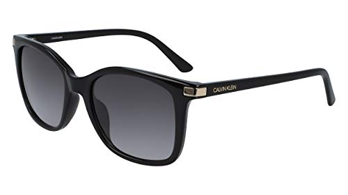 Calvin Klein EYEWEAR Womens CK19527S Sunglasses, BLACK, 5419