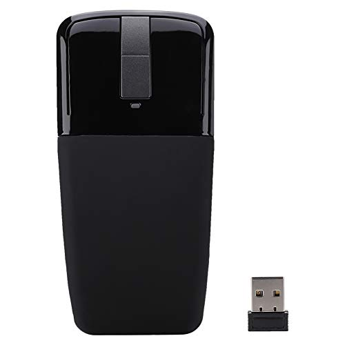 SH-RuiDu Wireless Arc Mouse, Portable Touch Thin Folding Optical Mouse with Receiver for PC Laptop