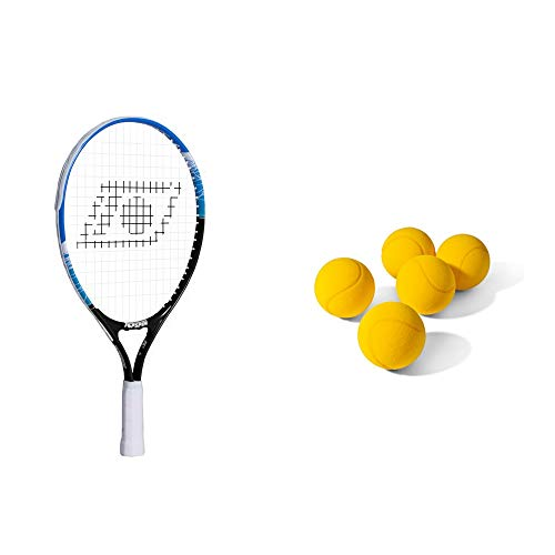 Topspin Tennis Kinderpaket Stage 4 (blau) - Kinderschläger + 5X Schaumstoffball