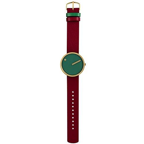 Rosendahl unisex analoog kwarts horloge met lederen armband 43377