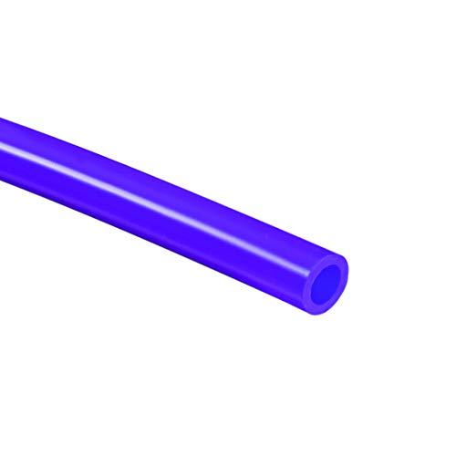 Sourcingmap - Tubo de silicona flexible (10 mm) ID x 9/16 pulgadas (14 mm) OD 6.6 pies 2 m de goma de silicona flexible para transferencia de bomba, color azul