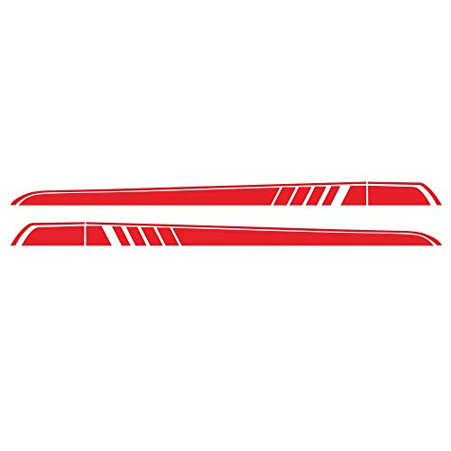 MeterMall Auto For 2 Pcs Car Sticker For Mercedes Benz Vito V Class W447 Amg Edition Side Sticker Side Skirt Sticker Vinyl Stripe red