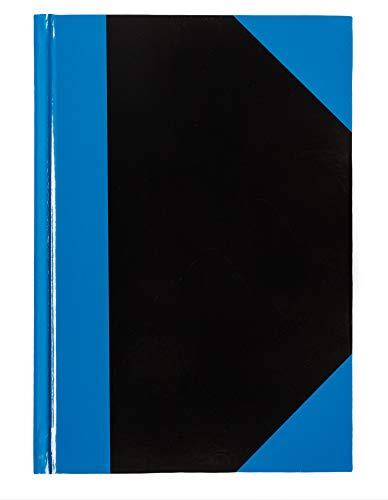 Idena 10094 - Kladde DIN A6, 96 Blatt, 70 g / m², liniert, blau / schwarz