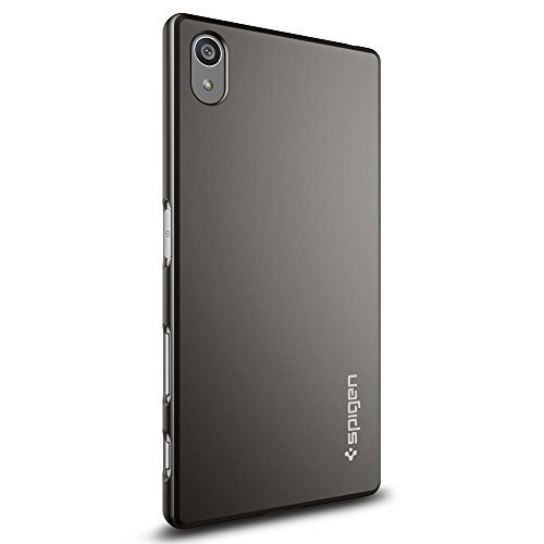 『【Spigen】 Xperia Z5 ケース 対応 レンズ保護 超薄型 超軽量 シン・フィット SGP11804 (ガンメタル)』の3枚目の画像