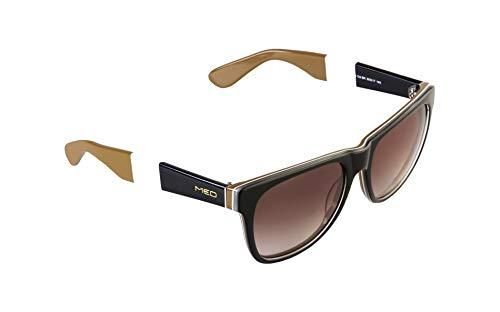 rainbow safety MED Gafas de Sol Edición Limitada Anteojos para el Sol Mujer Hombre O1016-BK