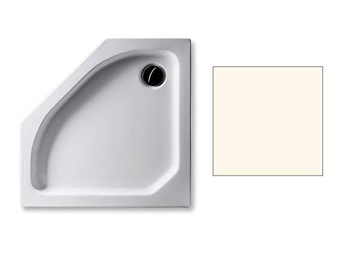 Acryl Duschwanne 90 x 90 cm Farbe: PERGAMON flach 6,5 cm Fünfeck Dusche/Duschtasse / Brausewanne
